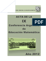 Acta Ix Carem (2012)