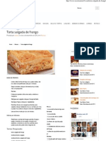 Receitas Nota 10 – Torta salgada de frango