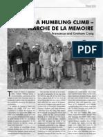 A Humbling Climb - Marche de la Memoire.pdf