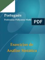 307 752Exercicios de Analise Sintatica