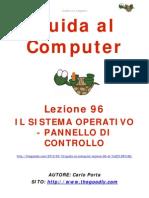 Guida al Computer - Lezione 96 - Il Sistema Operativo - Pannello di Controllo.
