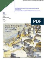 Sociologia Cambio Social