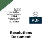 LGBT Summer Campaign Conference CD13 2008 Britannia Hotel Nottingham