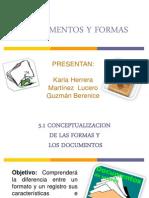 presentación de documentos y formas