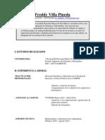 CV - Freddy Villa Pineda