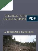Efectele activitatii omului asupra faunei