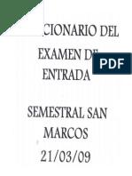 Solucionario Del Examen de Entrada (21!03!03)-Semestral San Marcos