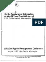 On the Aerodynamic Optimization