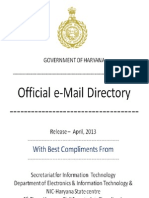 Government of Haryana Official Email Directory, 2013 - Naresh Kadyan