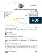 Nevada County Consolidated Fire District Special Board Meeting Agenda