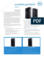 Dell OptiPlex FX130 and FX170 Thin Client Spec Sheet