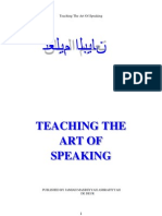 Teaching the Art of Speaking - Moulana Ashraf Ali Thanwi