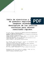 016130 Tabla de Ejercicios y Rutinas de Gimnasio Explicadas Con Imagenes Animadas y Descripcion de Las Tecnicas Correctas Para Obtener Resultados Rapidos