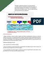 EQUIPO DE PROTECCIÓN PERSONAL  DESPUES DEL ANÁLISIS Y LA EVALUACIÓN DE RIESGOS DE UNA LABOR