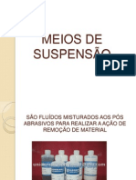 MEIOS DE SUSPENSÃO