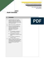 Risk Insurance Audit Checklist
