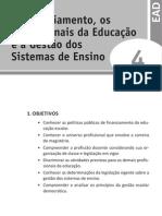 Política da Educação Básica - U4 - O Financiamento
