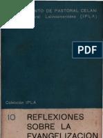 Celam, Ipla - Reflexiones Sobre La Evangelizacion
