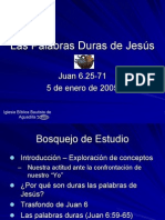 Las Palabras Duras de Jesus