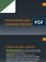 Herramientas para evaluación de Alternativas