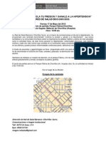 Nota de Prensa Caminata Hipertension