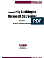 Security Auditing MSSQL