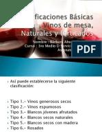 Clasificaciones Básicas del vino , Vinos de mesa