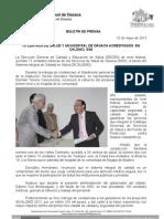 15/05/13 Germán Tenorio Vasconcelos Centros de Salud y Un Hospital de Oaxaca Son Acreditados en Calidad, Ssa