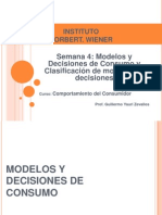 Semana 4 - Modelos y Decisiones de Consumo y Clasificacion de Modelos de Decisiones