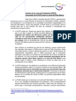 Pronunciamiento de la Junta de Presidentes FEPUC - Inexactitudes en comunicado de la PUCP sobre venta del Plato Básico