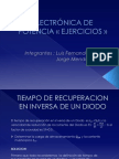 Ejercicios-tiempo de Recuperacion Inverso de Diodos y Rectificadores