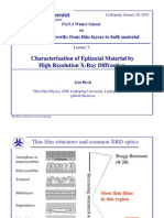 Birch - Characterization of Epitaxial Material by High Resolution X-ray Diffraction