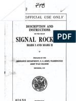 Description and Instructions on the Use of Signal Rockets Mark-I and-Mark-II (1917)