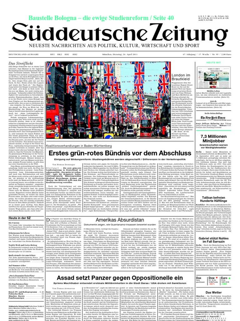Suddeutsche Zeitung 20110426