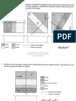 Prácticas de análisis de mapas geológicos y cortes