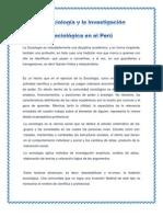 La sociología y la Investigación Sociológica en el Perú