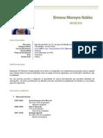 Curriculum Ximena Moreyra