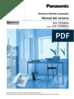 manual usuario KX-TES824