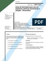 NBR 5431 - 1987 - PB 23 - Caixas de Derivacao Para Uso Em Instalacoes Eletricas Domesticas e Ana