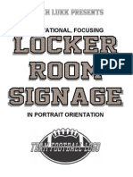 Coach Lukk's Locker Room Signage - Portrait