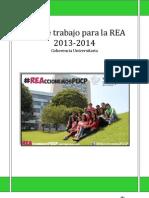 Plan de Trabajo para la REA 2013-2014