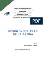 Resumen Del Plan de La Patria