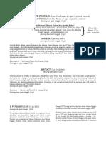 Petunjuk Untuk Penulisan Jurnal
