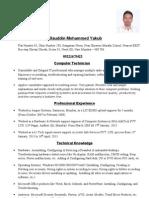 Allauddin Yakub, CV