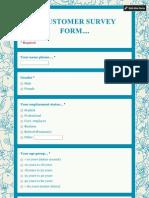 .....Customer Survey Form..1.