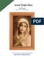 Cross stitch patron. Virgin Mary.