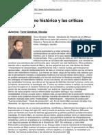 (El materialismo histórico y las críticas posmodernas)