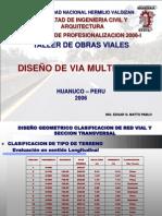 DISEÑO DE VIA MULTICARRIL