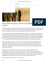 Does Bible Prophecy Point to the Modern State of Israel