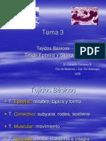 3 Tejidos Básicos  y epitelial tema